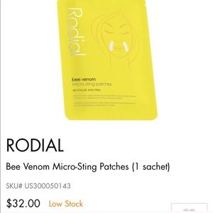 Rodial bee venom micro-sting patches packet of 2